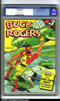 Golden Age (1938-1955):Adventure, Buck Rogers #4 Mile High pedigree (Eastern Color, 1942) CGC NM+ 9.6 Off-white to white pages. After enjoying success in the ...