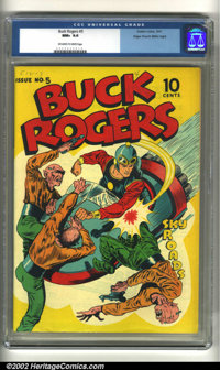 Buck Rogers #5 Mile High pedigree (Eastern Color, 1943) CGC NM+ 9.6 Off-white to white pages. Buck Rogers jumps into act...