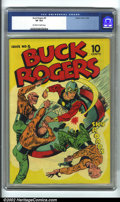 Golden Age (1938-1955):Science Fiction, Buck Rogers #5 (Eastern Color, 1943) CGC VF 8.0 Off-white to whitepages. This is a really cool book in high grade. Buck Rog...