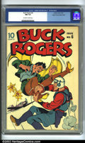 Golden Age (1938-1955):Science Fiction, Buck Rogers #6 Mile High pedigree (Eastern Color, 1943) CGC NM 9.4Off-white to white pages. The most bizarre cover in the r...