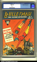 Golden Age (1938-1955):Superhero, Bulletman #9 Mile High pedigree (Fawcett, 1942) CGC NM-9.2 White pages. This is best copy that CGC has ever seen, and probab...