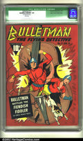 Golden Age (1938-1955):Superhero, Bulletman #11 Mile High pedigree (Fawcett, 1943) CGC Qualified NM/MT 9.8 White pages. Bulletman and Bulletgirl smash out as ...
