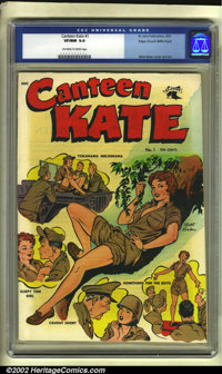 Canteen Kate #1 Mile High pedigree (St. John, 1952) CGC VF/NM 9.0 Off-white to white pages. Matt Baker's art makes this...