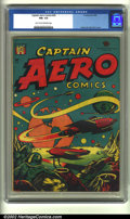 Golden Age (1938-1955):Science Fiction, Captain Aero Comics #26 (Holyoke Publications, 1946) CGC FN+ 6.5Light tan to off-white pages. This is L. B. Cole's most str...