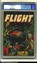 Golden Age (1938-1955):Science Fiction, Captain Flight #11 (Four Star, 1947) CGC VF- 7.5 Cream to off-whitepages. This classic L. B. Cole science-fiction cover fea...