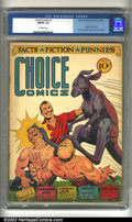 Golden Age (1938-1955):Superhero, Choice Comics #1 (Great Comics Publications, 1941) CGC FN/VF 7.0 Off-white pages. This is perhaps one of the most bizarre co...