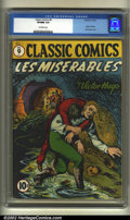 Golden Age (1938-1955):Classics Illustrated, Classic Comics #9 (Gilberton, 1943) CGC VF/NM 9.0 Off-white pages.Here is the comic version of Victor Hugo's all time class...