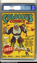Golden Age (1938-1955):Superhero, Colossus Comics #1 Denver pedigree (Sun Publications, 1940) CGC VF/NM 9.0 Off-white pages. This is the one and only issue of...