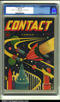 Golden Age (1938-1955):Science Fiction, Contact Comics #12 (Aviation Press, 1946) CGC FN- 5.5 Off-whitepages. L. B. Cole renders one of his most awesome science-fi...