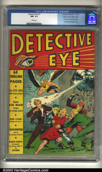 Detective Eye #1 Mile High pedigree (Centaur, 1940) CGC NM- 9.2 White pages. Centaur's unique brand of comic books grace...
