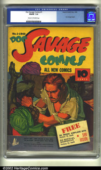 Doc Savage Comics #1 (Street and Smith, 1940) CGC FN/VF 7.0 Cream to off-white pages. Doc Savage was the creation of the...