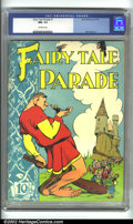 Golden Age (1938-1955):Humor, Fairy Tale Parade #1 (Dell, 1942) CGC NM- 9.2 Off-white pages. Walt Kelly's cover and artwork are the highlights of this ear...