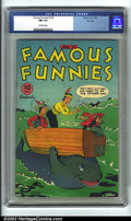 Golden Age (1938-1955):Humor, Famous Funnies #133 File Copy (Eastern Color, 1945) CGC NM 9.4 Off-white pages. This nice file copy is in fantastic conditio...