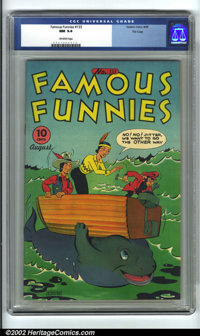 Famous Funnies #133 File Copy (Eastern Color, 1945) CGC NM 9.4 Off-white pages. This nice file copy is in fantastic cond...