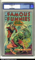 Golden Age (1938-1955):Science Fiction, Famous Funnies #210 (Eastern Color, 1954) CGC NM 9.4 White pages.This book is so incredibly beautiful, it's hard to take yo...