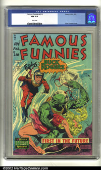 Famous Funnies #210 (Eastern Color, 1954) CGC NM 9.4 White pages. This book is so incredibly beautiful, it's hard to tak...