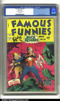 Golden Age (1938-1955):Science Fiction, Famous Funnies #211 (Eastern Color, 1954) CGC VF+ 8.5 Off-whitepages Frank Frazetta's unique style is captured here in all ...