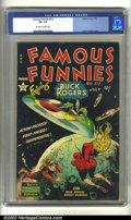 Golden Age (1938-1955):Science Fiction, Famous Funnies #212 (Eastern Color, 1954) CGC VF- 7.5 Off-white towhite pages. Black covers are always the toughest to find...
