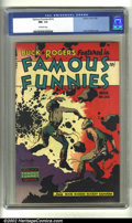 Golden Age (1938-1955):Science Fiction, Famous Funnies #216 (Eastern Color, 1955) CGC NM- 9.2 Off-whitepages. Not only is this copy the highest ever graded by CGC,...