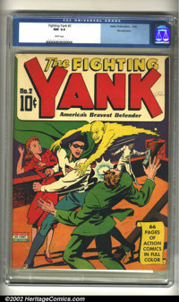 "Fighting Yank #2 Pennsylvania pedigree (Nedor Publications, 1942) CGC NM 9.4 White pages. Long considered the ""poor..."