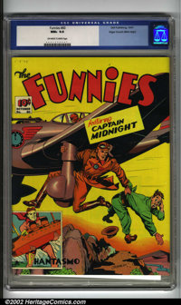 Funnies #60 Mile High pedigree (Dell, 1941) CGC NM+ 9.6 Off-white to white pages. This particular copy is absolutely stu...