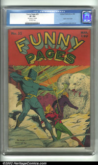 Funny Pages #35 (Centaur, 1940) CGC VF 8.0 Off-white pages. This is an incredibly rare Centaur, with a classic Arrow cov...