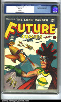 Golden Age (1938-1955):Adventure, Future Comics #2 Mile High pedigree (David McKay Publications, 1940) CGC NM- 9.2 White pages. A totally bizarre comic, even ...