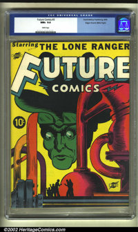 Future Comics #3 Mile High pedigree (David McKay Publications, 1940) CGC NM+ 9.6 White pages. This is a fantastically bi...