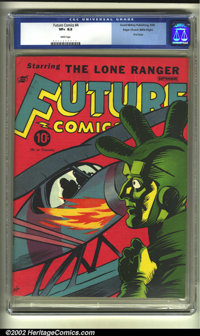 Future Comics #4 Mile High pedigree (David McKay Publications, 1940) CGC VF+ 8.5 White pages. This relatively obscure ti...