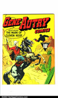 Golden Age (1938-1955):Western, Gene Autry Comics #1 Mile High pedigree (Fawcett, 1941) Condition:NM Off-white to white pages. Gene Autry was one of the mo...