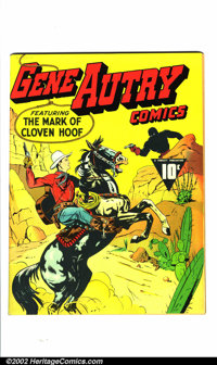 Gene Autry Comics #1 Mile High pedigree (Fawcett, 1941) Condition: NM Off-white to white pages. Gene Autry was one of th...