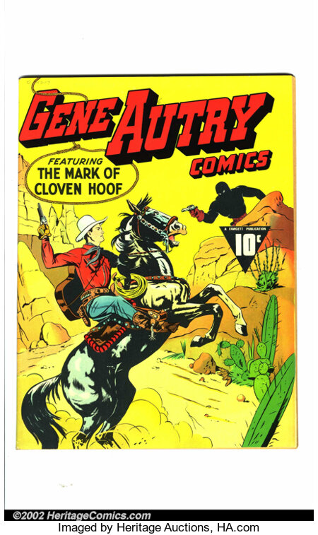 Gene Autry Comics #1 Mile High pedigree (Fawcett, 1941) Condition: NM Off-white to white pages. Gene Autry was one of the mo...