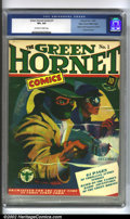 Golden Age (1938-1955):Superhero, Green Hornet Comics #1 Mile High pedigree. (Holyoke, 1940) CGC VF+ 8.5 Off-white to white pages. Edgar Church's copy of this...