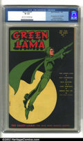 Golden Age (1938-1955):Superhero, Green Lama #1 (Spark Publications, 1944) CGC VF 8.0 Light tan to off-white pages. Vying for recognition among green-clad her...