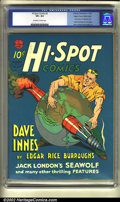 Golden Age (1938-1955):Adventure, Hi-Spot Comics #2 Mile High pedigree (Hawley Publications, 1940). A Dave Innes of Pellucidar story written by Edgar Rice Bur...
