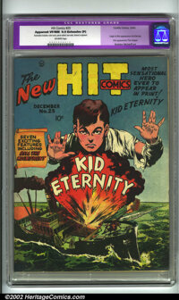 Hit Comics #25 (Quality, 1942) CGC Apparent VF/NM 9.0 Extensive (P) Off-white pages. Mac Raboy offers one his famous cov...