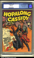 Golden Age (1938-1955):Western, Hopalong Cassidy #1 Mile High pedigree (Fawcett, 1943) CGC VF/NM9.0 Off-white to white pages. One of the most successful we...