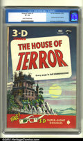 Golden Age (1938-1955):Horror, House of Terror (3-D) #1 (St. John, 1953) CGC VF 8.0 Cream tooff-white pages. Matt Baker and Joe Kubert contributed artwork...