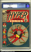 Golden Age (1938-1955):Superhero, Hyper Mystery Comics #1 Mile High pedigree (Hyper Publications, 1940) CGC NM- 9.2 Off-white pages. Here's another supremely ...