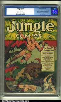 Jungle Comics #1 Rockford pedigree (Fiction House, 1940) CGC FN- 5.5 Cream to off-white pages. The Fiction House master...