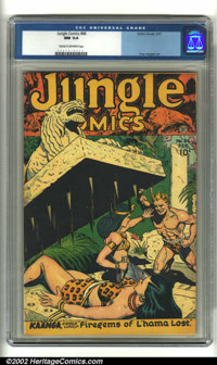 Jungle Comics #86 (Fiction House, 1947) CGC NM 9.4 Cream to off-white pages. Kaanga jumps to the rescue just in time to...