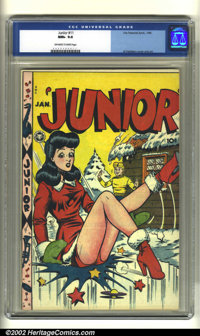 Junior #11 (Fox Features Syndicate, 1948) CGC NM+ 9.6 Off-white to white pages. Al Feldstein created a memorable cover f...