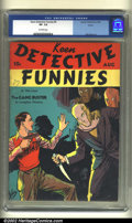 Golden Age (1938-1955):Adventure, Keen Detective Funnies #9 Larson pedigree (Centaur, 1938) CGC VF- 7.5 Off-white pages. On the stands two months after Acti...