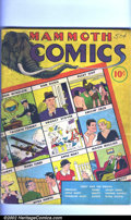 Golden Age (1938-1955):Humor, Mammoth Comics #1 (Whitman Publishing Co., 1938) Condition: VG. This 84-page oversized black and white comic book was publis...