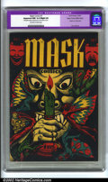 "Golden Age (1938-1955):Horror, Mask Comics #1 Mile High pedigree (Rural Home, 1945) CGC ApparentNM 9.4 Slight (A) Off-white to white pages. CGC notes, ""Re..."
