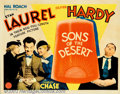 "Movie Posters:Comedy, Sons of the Desert (MGM, 1933). Half Sheet (22"" X 28""). Consideredto be Laurel and Hardy's best feature film, with the boys..."
