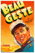 "Movie Posters:Adventure, Beau Geste (Paramount, 1939). One Sheet (27"" X 41""). WilliamWellman directed this remake of the 1926 Ronald Colman version..."