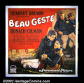 "Movie Posters:Adventure, Beau Geste (Paramount, 1926). Six Sheet (81"" X 81""). This is thefirst film version of the P. C. Wren story of three brother..."