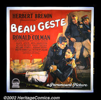 """Beau Geste (Paramount, 1926). Six Sheet (81"""" X 81""""). This is the first film version of the P. C. Wren story of..."""