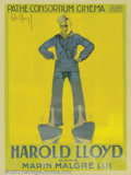 "Movie Posters:Comedy, Sailor Made Man (Associated Exhibitors, 1921). French poster (47"" X63""). Beautiful, French art-deco poster to Harold Lloyd..."